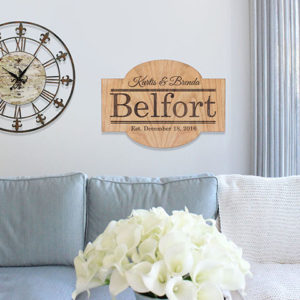 Personalized Wood Family Name Sign | Belfort