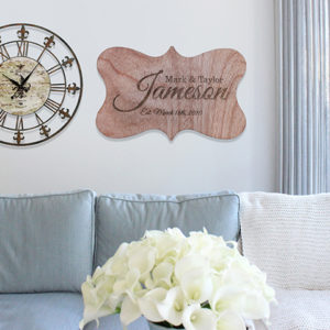 Personalized Wood Family Name Sign | Jameson