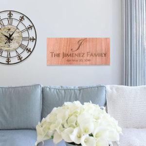 Personalized Wood Family Name Sign | Jimenez