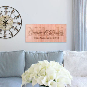 Personalized Wood Family Name Sign | Kendra William