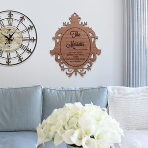 Personalized Wood Family Name Sign | Merretts