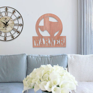 Personalized Wood Family Name Sign | Warner