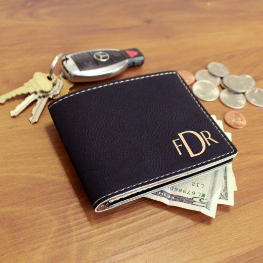 Personalized Leather Wallet | FDR