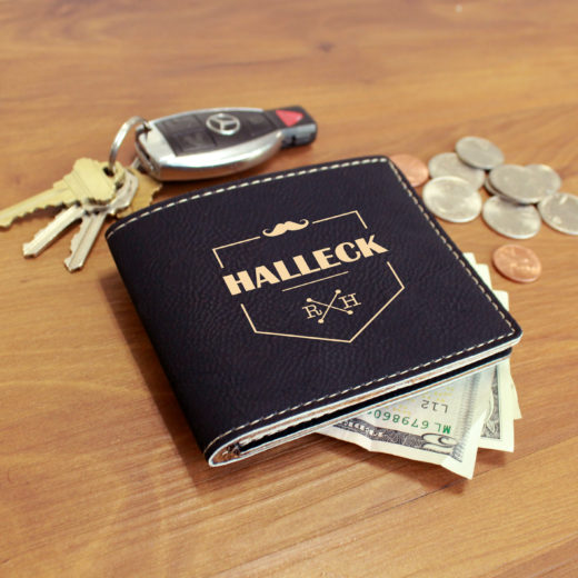Personalized Leather Wallet | Halleck