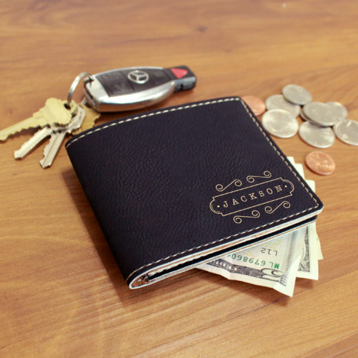 Personalized Leather Wallet | Jackson