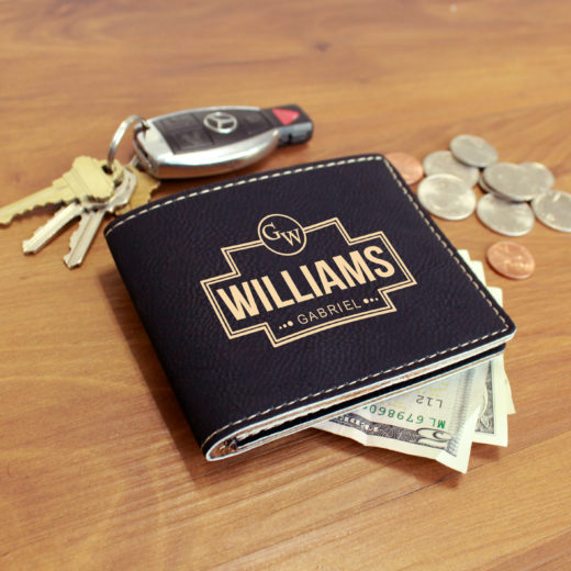 Personalized Leather Wallet | Gabriel Williams