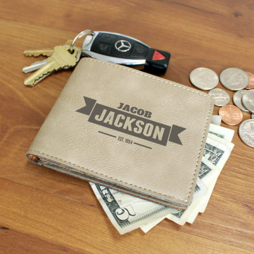 Personalized Leather Wallet | Jacob Jackson