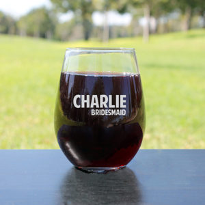 Personalized Wine Glasses | Charlie