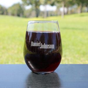 Personalized Wine Glasses | Daniel