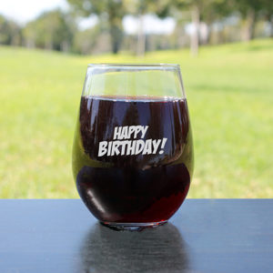 Personalized Wine Glasses | Happy BDAY
