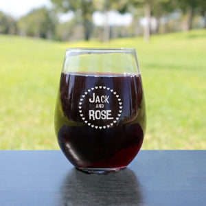 Personalized Wine Glasses | Jack and Rose