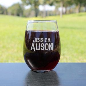Personalized Wine Glasses | Jessica