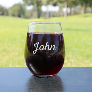 Personalized Wine Glasses | John