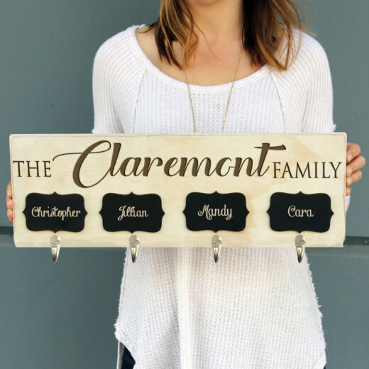 Personalized Stocking Hanger w/chalkboard | Claremont