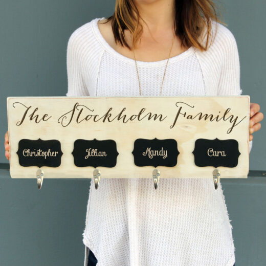 Personalized Stocking Hanger | Stockholm w/ Chalkboard