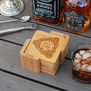 Ben Caitlyn | Personalized Bamboo Coasters