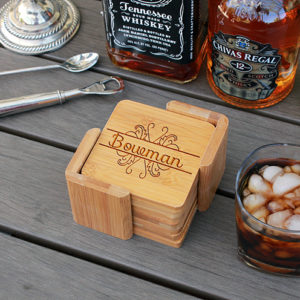 Bowman | Personalized Bamboo Coasters