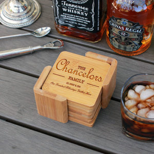 Chancelors | Personalized Bamboo Coasters
