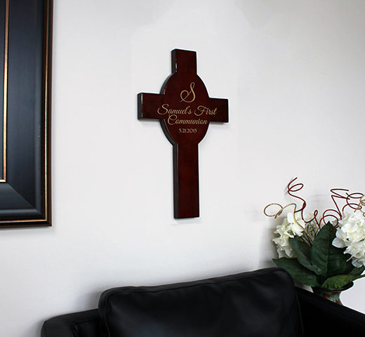 Personalized Wood Cross | Samuels First Communion