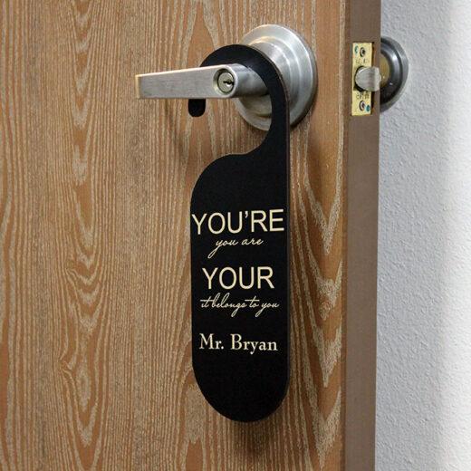 Personalized Door Knob Sign | Bryan