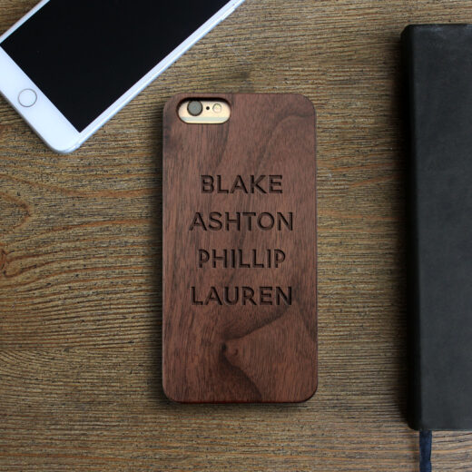 Personalized Wood Iphone Case   Children's Names