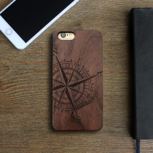 Personalized Wood Iphone Case | Compass