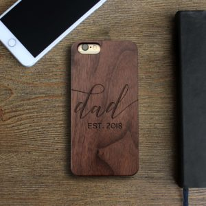 Personalized Wood Iphone Case | Dad Script