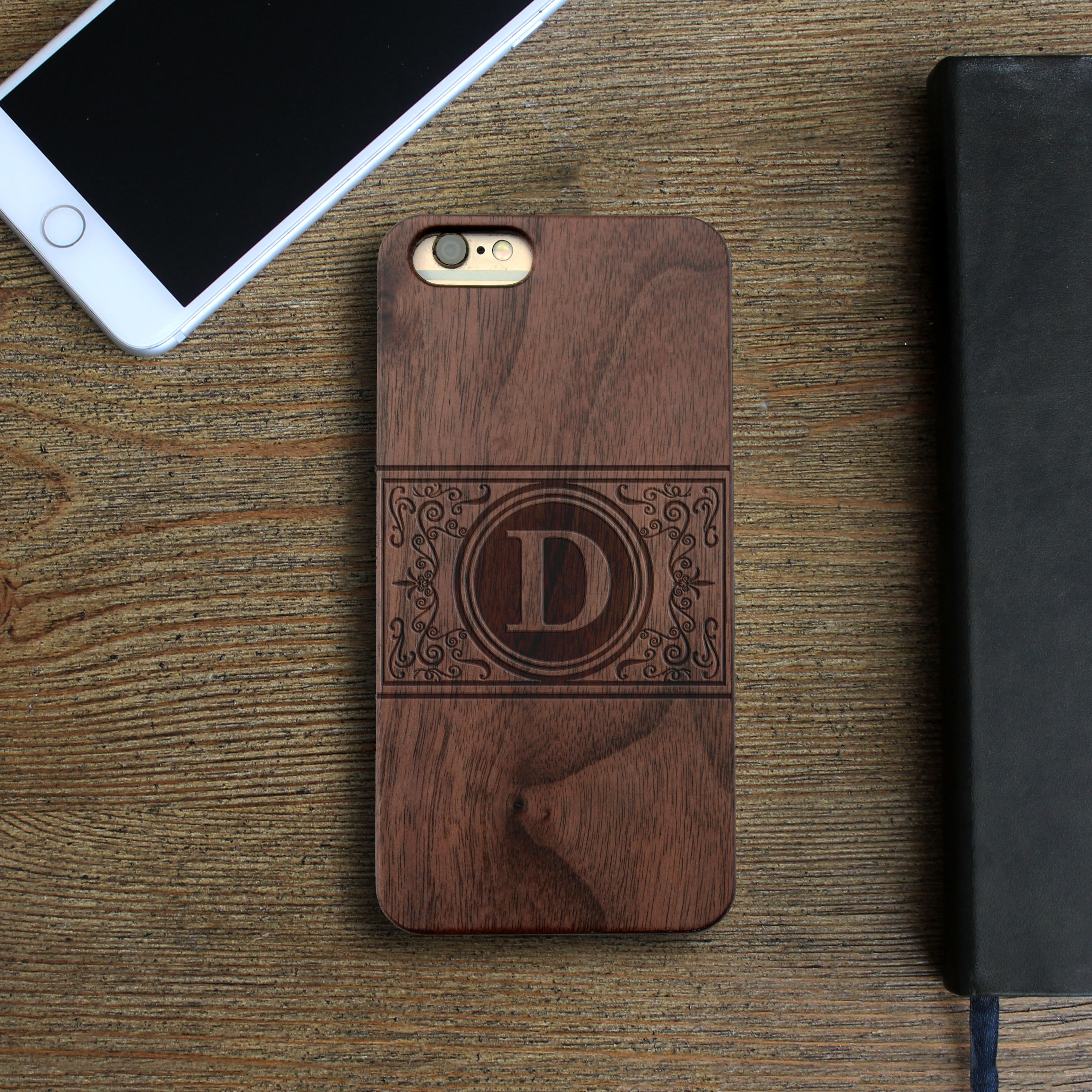 Personalized Wood Iphone Case | Damask
