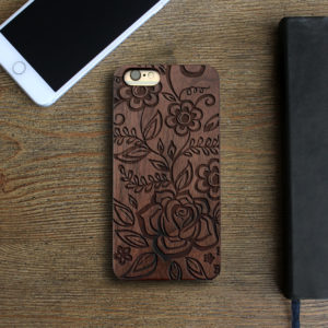Personalized Wood Iphone Case | Flowers 2