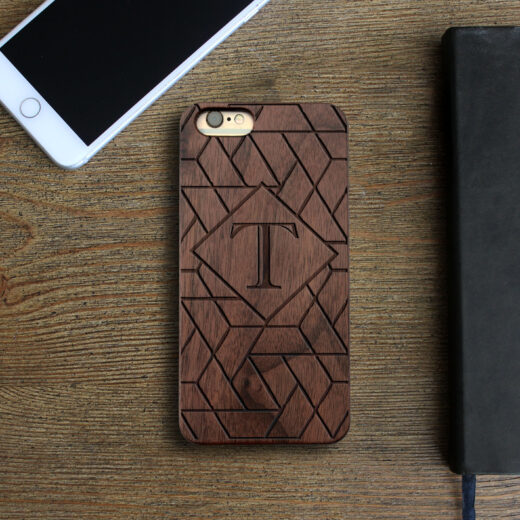 Personalized Wood Iphone Case   Geometric