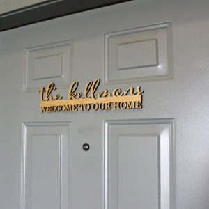 Personalized Front Door Sign | Kellmans