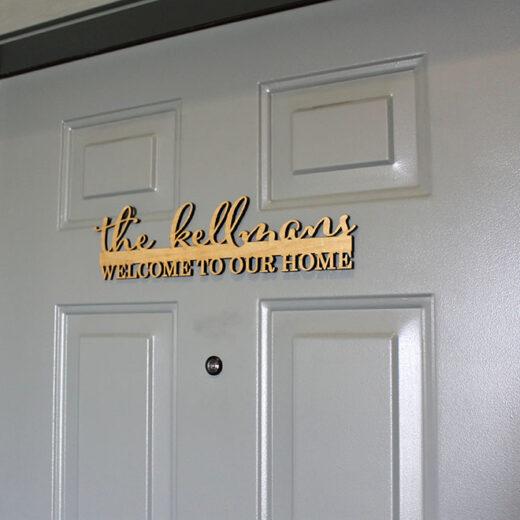 Personalized Front Door Sign | Kellmans