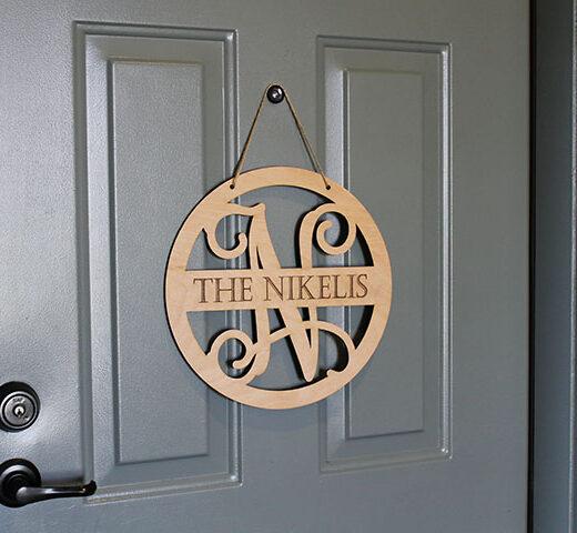 Personalized Front Door Sign | Nikelis