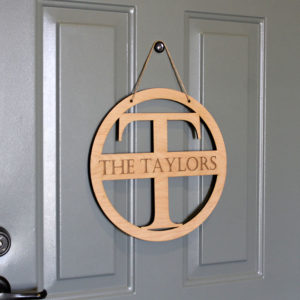 Personalized Front Door Sign | Taylors