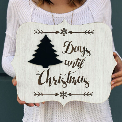 Personalized Sign Board | Christmas Countdown Sign