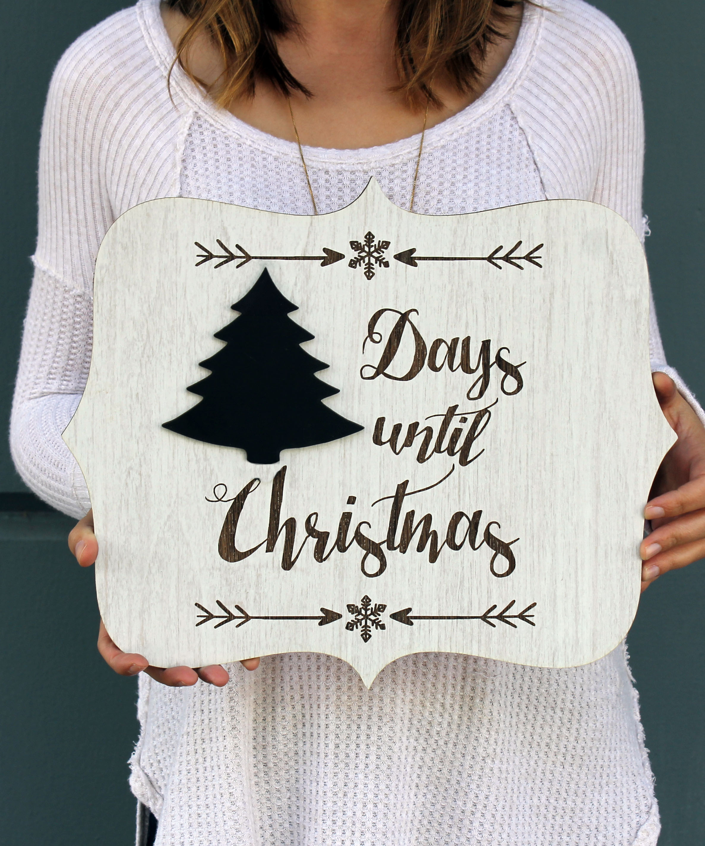 personalized sign board christmas countdown sign - Christmas Countdown Sign
