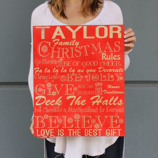Personalized Christmas Sign | Christmas Family Rules