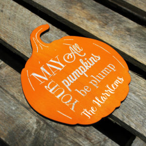 Custom Halloween Pumpkin Sign | The Harlems