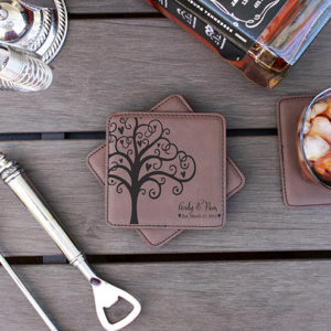 Personalized Leatherette Coasters | Andy Pam