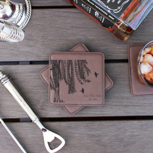 Personalized Leatherette Coasters | Ann Ben