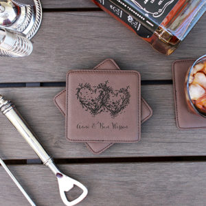 Personalized Leatherette Coasters | Anne Ben Wesson
