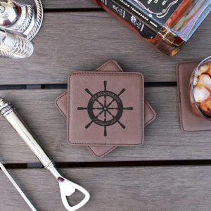 Personalized Leatherette Coasters | Beachmans