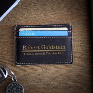 Leather Money Clip Wallet   Goldstein
