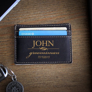 Leather Money Clip Wallet   John