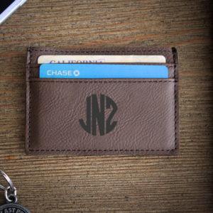 Leather Money Clip Wallet   JNZ