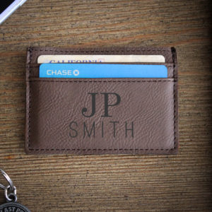 Leather Money Clip Wallet   JP Smith
