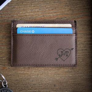 Leather Money Clip Wallet   JT