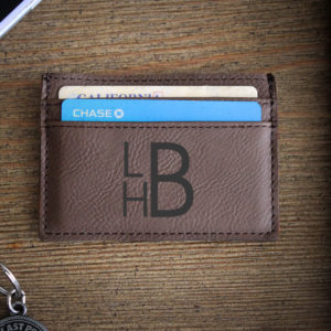 Leather Money Clip Wallet   LBH