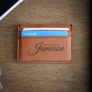 Leather Money Clip Wallet   Jameson