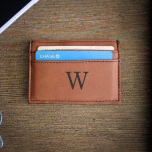 Leather Money Clip Wallet   W